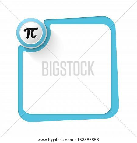 Blue frame with golden circle and pi symbol
