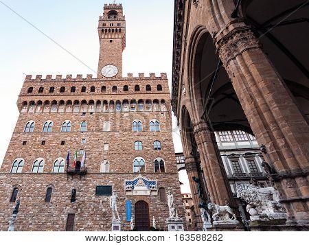 View Of Palazzo Vecchio And Loggia Dei Lanzi