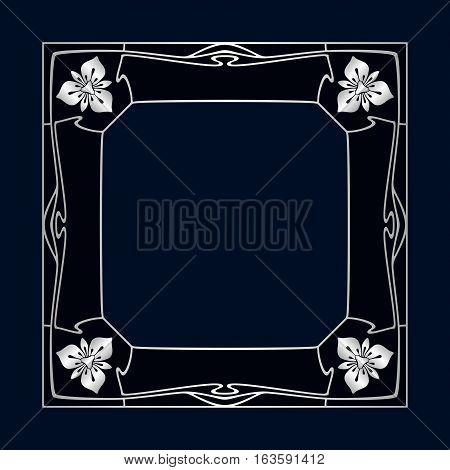 Vector Art Deco Frame.