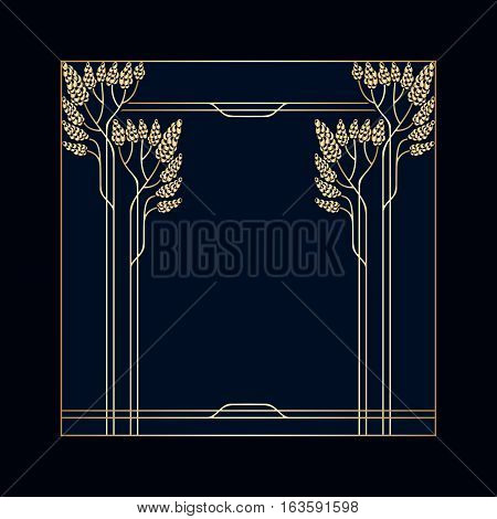 Vector Art Deco Frame.
