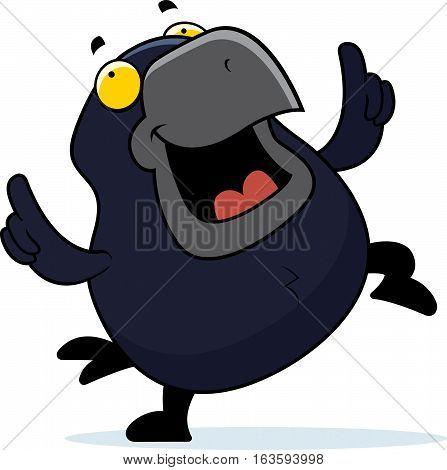 Cartoon Crow Dancing