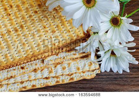 Passover Jewish Food Pesach Matzo And Matzoh Bread