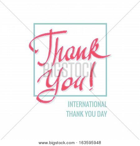 January 11, International Thank You day, vector illustration