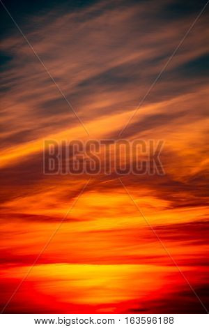 Colorful abstract clouds at sunrise in a Wisconsin sky.