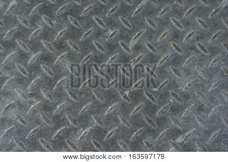 Weathered treadplate background well worn and dirty