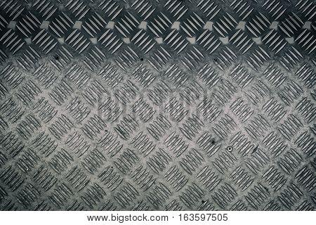 silver Metal anti slip metal floor pattern and texture.