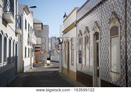 Europe Portugal Algarve Santa Luzia Town