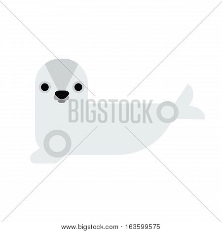 Sea cow manatee cartoon illustration isolated. Vector animal marine ocean underwater diving tropical mammal. Beauty ecosystem cute manatee.