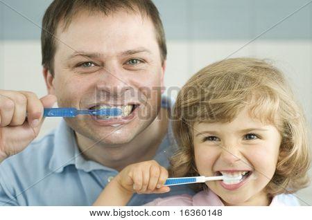 Brushing teeth lesson
