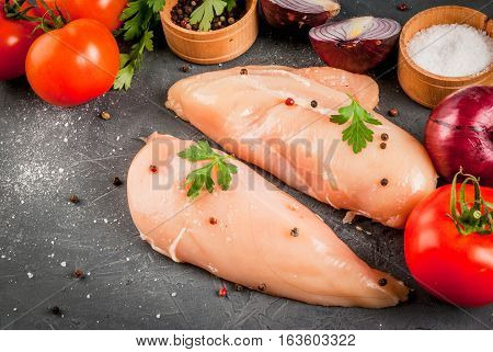 Raw Uncooked Chicken Breast