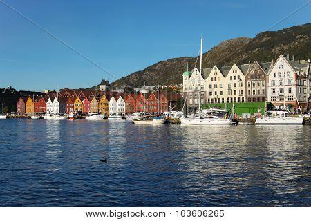 Sunny Daytime In Bergen, Norway