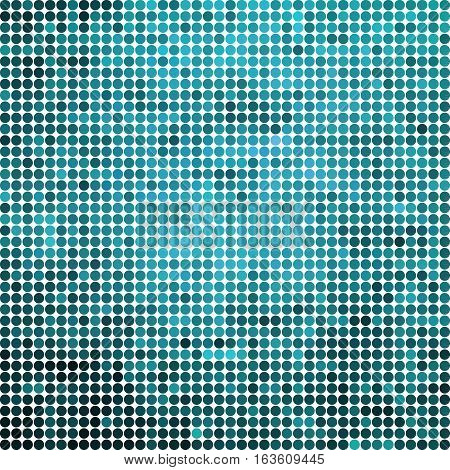 abstract vector colored round dots background - blue