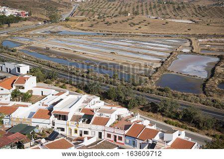Europe Portugal Algarve Castro Marim Town Flor De Sal