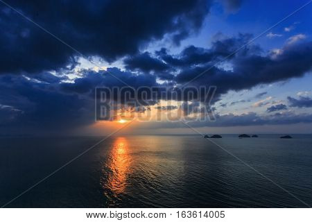 Dramatic Sunset In Thailand