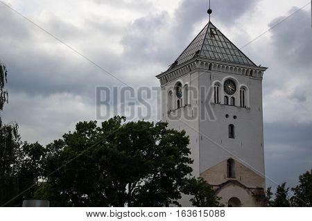 Church Tower In Jelgava City, Latvia