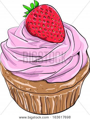 cake vector art  lineart shadows confectionery pastry