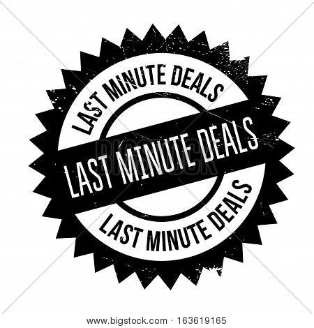 Last Minute Deals stamp. Grunge design with dust scratches. Effects can be easily removed for a clean, crisp look. Color is easily changed.