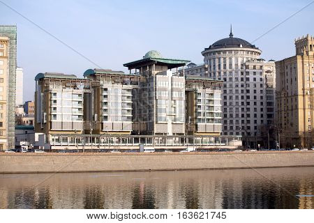 MOSCOW - MARCH 11: The building of the British Embassy in Moscow Russia, Smolenskaya Naberezhnaya on March 11, 2015