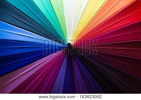 Background Of Colorful Umbrellas.