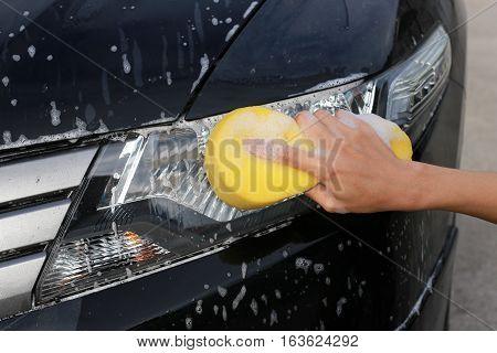 Wash Lights.hand hold sponge for washing car