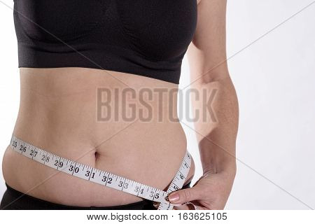 Belly Bulge With Measuring Tape Front Facing