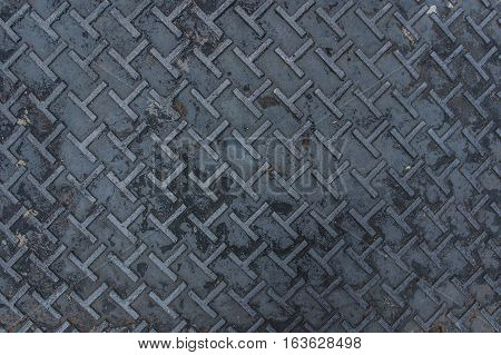 Dirty metal diamond grip T pattern texture