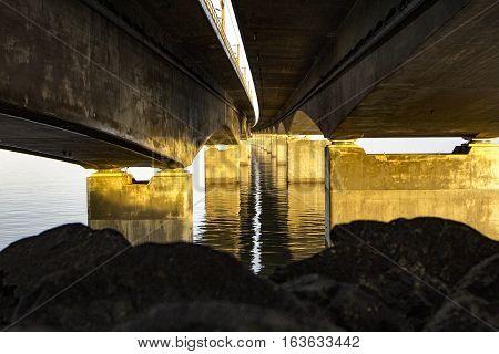 The Great Belt bridge. Shot in Denmark
