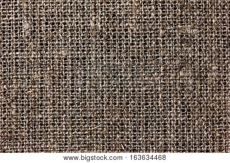 Texture of sacking or hessian or burlap material gunny sack natural background.
