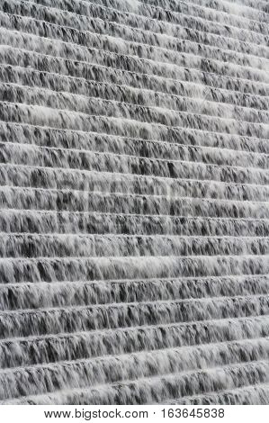 Background Of Water Cascading Down Avon Dam, Dartmoor