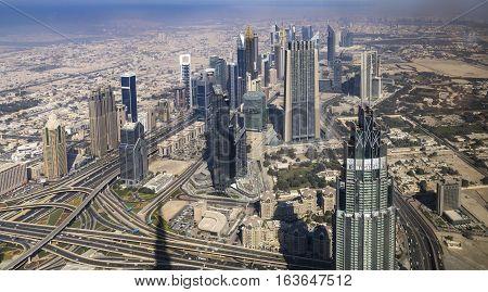 Skyline view Dubai in the United Arab Emirates