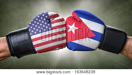 A Boxing Match Between The Usa And Cuba