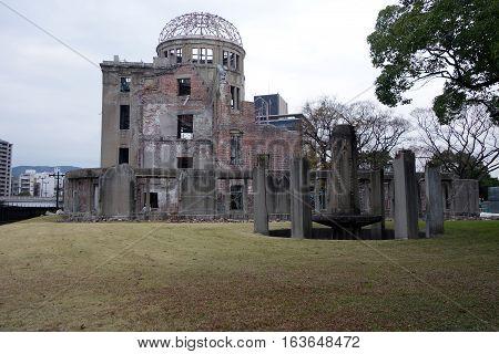 Atomic Bomb Dome In Hiroshima Japan