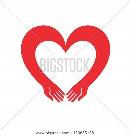 the heart reaches out. Illustration for Valentine's Day can serve as a decoration or logo