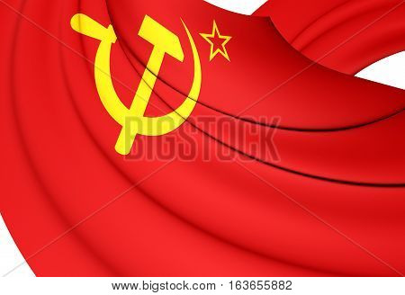 3D Flag Of The Soviet Union (1923-1955). 3D Illustration.