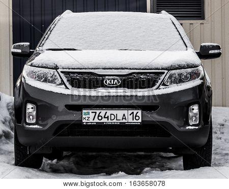 Kazakhstan, Ust-Kamenogorsk, 15 december 2016: Kia Sportage SL, front view, CUV