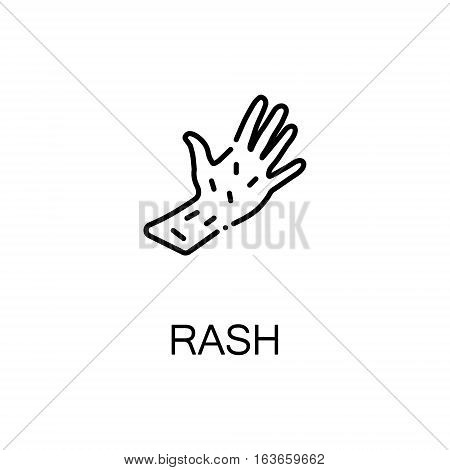 Rash flat icon. High quality outline symbol of illness and injury for web design or mobile app. Thin line sign of rash for design logo, visit card, etc. Outline pictogram of rash