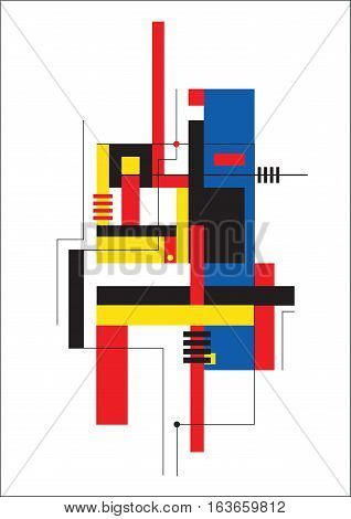 Abstract Composition In Style Of The Constructivism