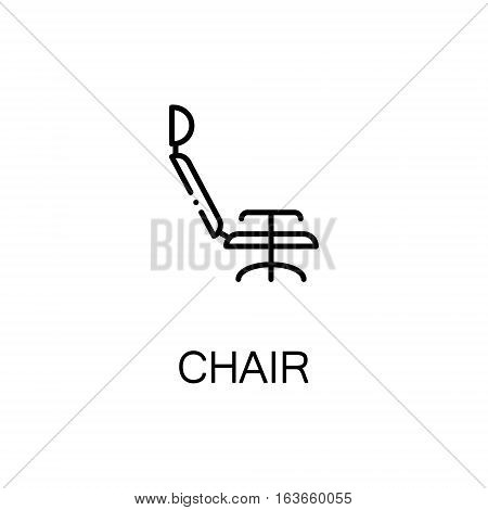 Chair flat icon. High quality outline symbol of medical euipment for web design or mobile app. Thin line signs of medical chair for design logo, visit card, etc. Outline pictogram of chair
