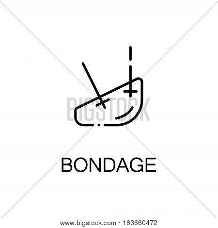 Bondage flat icon. High quality outline symbol of medical euipment for web design or mobile app. Thin line signs of bondage for design logo, visit card, etc. Outline pictogram of bondage