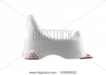 Baby potty isolated on the white background