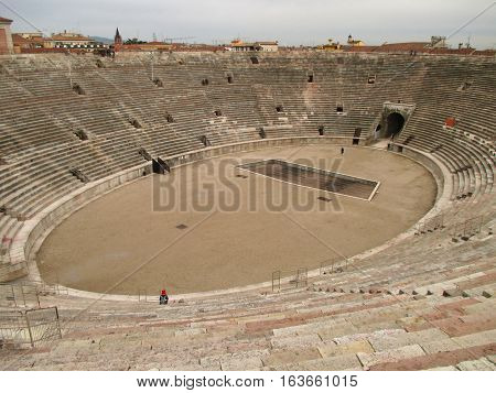 Arena of Verona, the Well Preserved Roman Amphitheatre in Verona, Italy