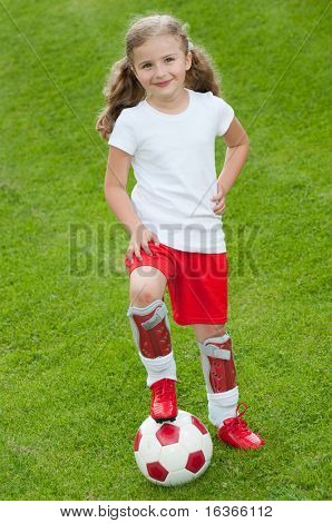 Cute soccer player