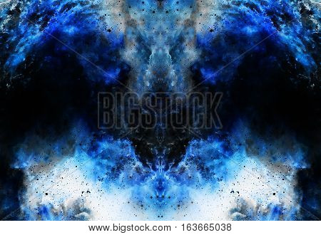 Cosmic space and stars, color cosmic abstract background. Winter effect. Copy space