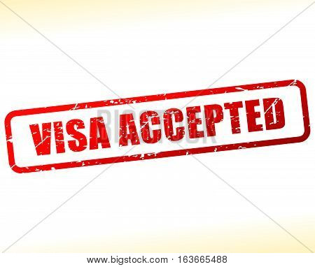 Visa Accepted Text Buffered