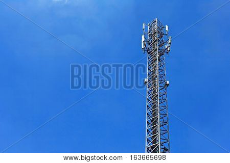 Why sign pole telephone technology sky blue