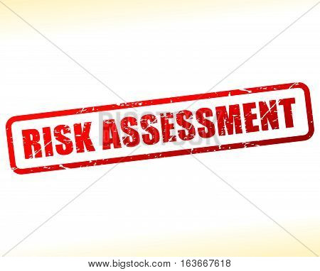 Illustration of risk assessment text buffered on white background