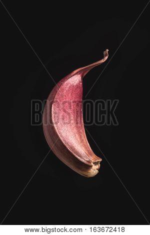 Garlic Clove On Black