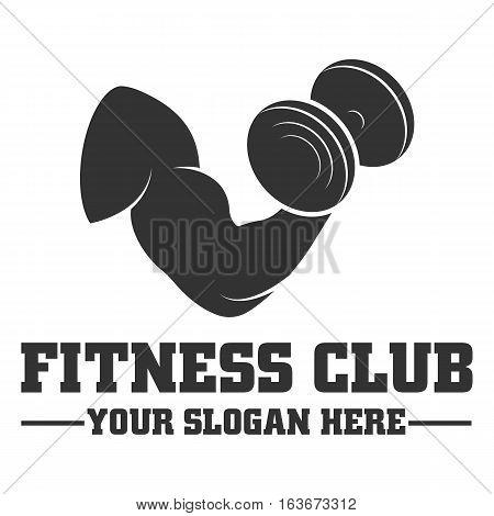 Fitness club logo design template vector eps 10