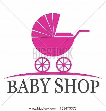 Baby shop logo design template eps 10