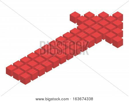 Isometric Arrow From Cubes